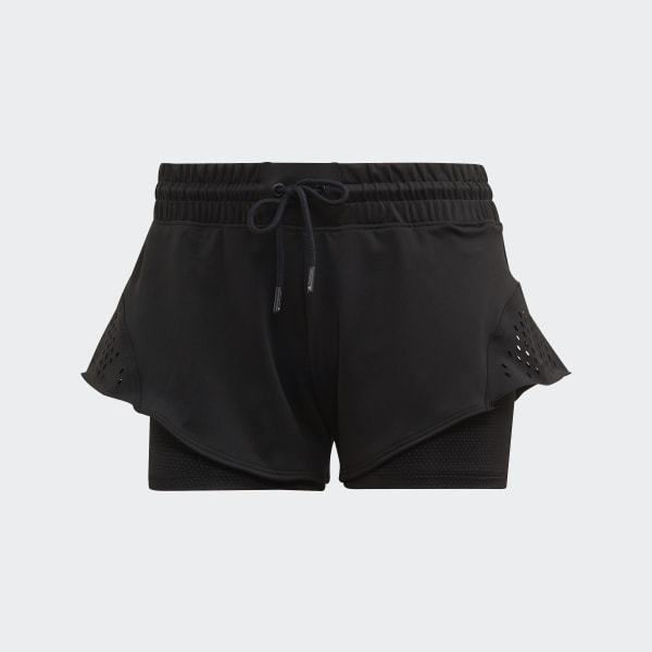 Adidas by Stella McCartney Youth Court Ventilated Lightweight Shorts in White.