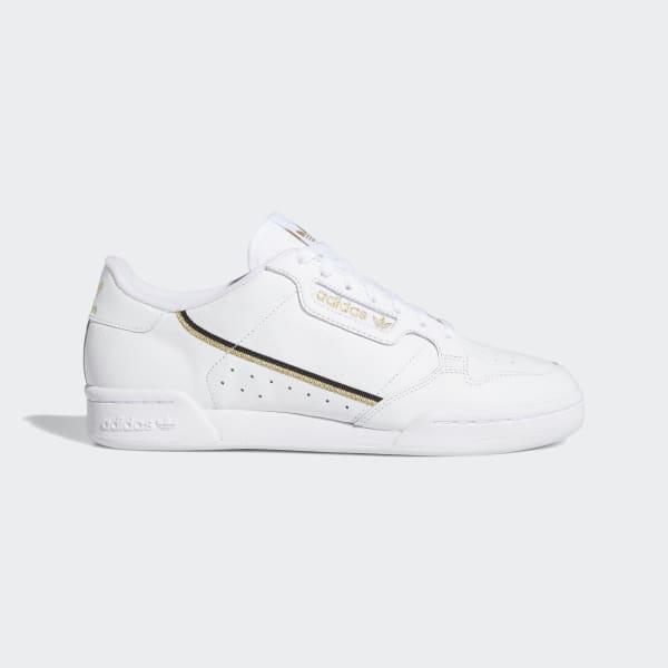 Continental 80 wit metallic gouden schoenen | adidas Nederland