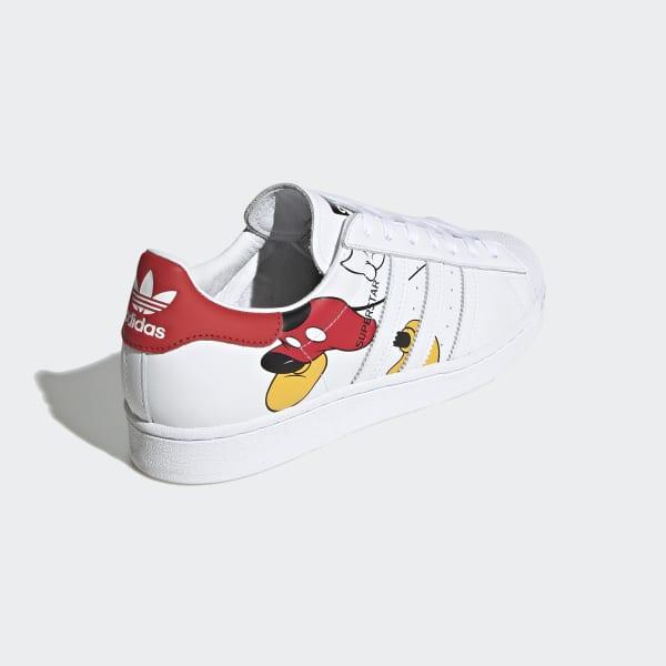 adidas Disney Mickey Mouse Superstar Schoenen Wit   adidas
