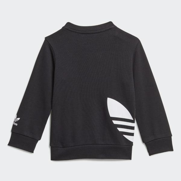 Trefoil Hoodie Set Black White DV2809 | Adidas outfit