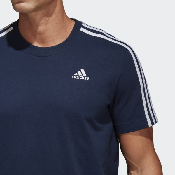 7bbdb2fba6dde Camiseta Essentials 3-Stripes - Azul adidas