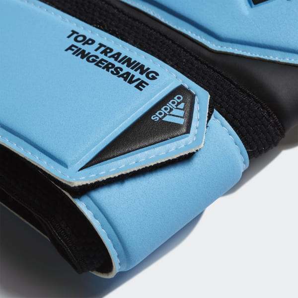 adidas Kinder Predator Top Training Fingersave Torwarthandschuhe blau DY2601