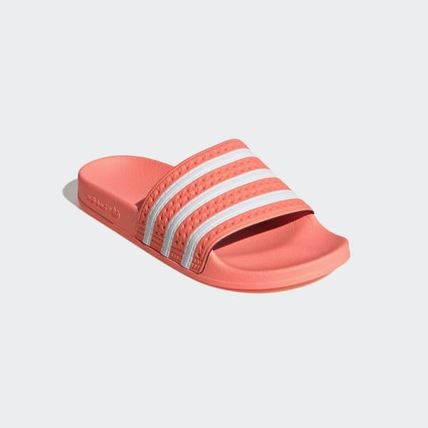 adidas flip flops orange