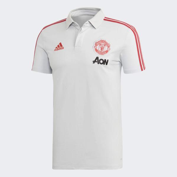 a414f31bc95 adidas Manchester United Polo Shirt - Grey