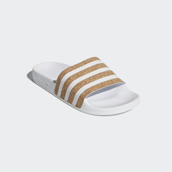 official photos 7bb59 3edbb adidas Adilette Slides - White  adidas Canada