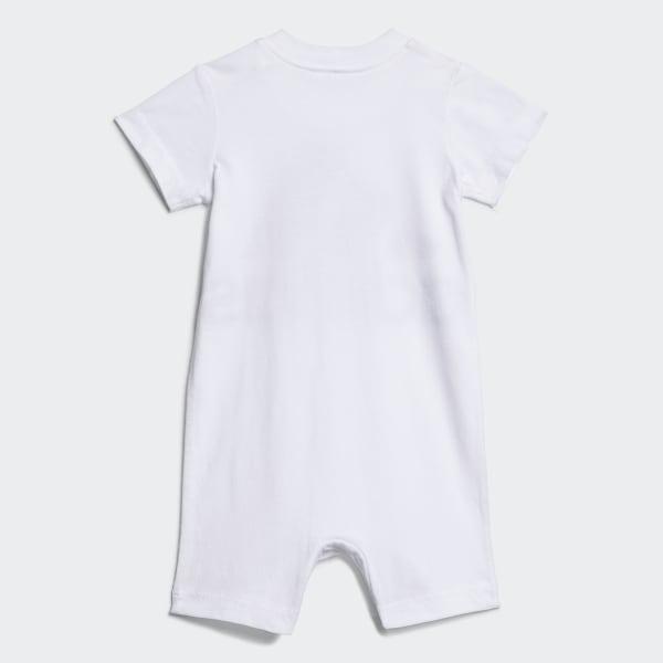 adidas Baby Boys Shortie Cotton Romper