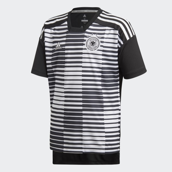 Official Germany Home Pre Match Shirt White Tee Top Sport adidas Climalite Mens
