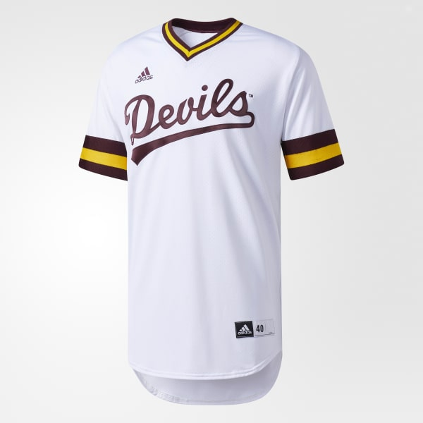 finest selection 9c797 49cf8 adidas Sun Devils Authentic Baseball Jersey - White | adidas US
