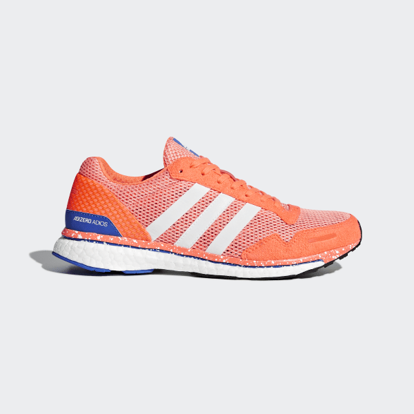 finest selection 7fd1d 73bca Chaussure adizero Adios 3 Chalk Coral   Ftwr White   Orange BB6408