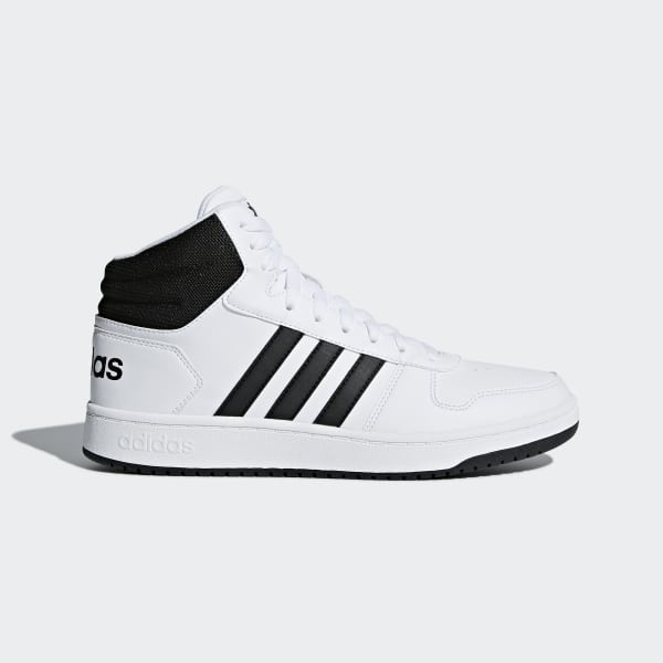 adidas Hoops 2.0 Mid Shoes - White  c723878b7