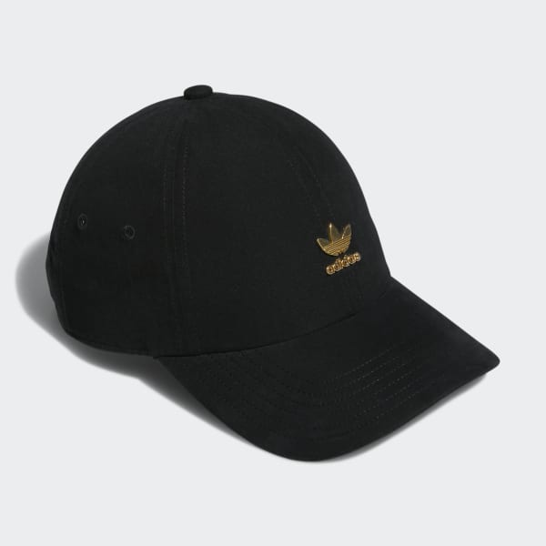 472f1010 adidas Relaxed Metal Strap-Back Hat - Black | adidas US