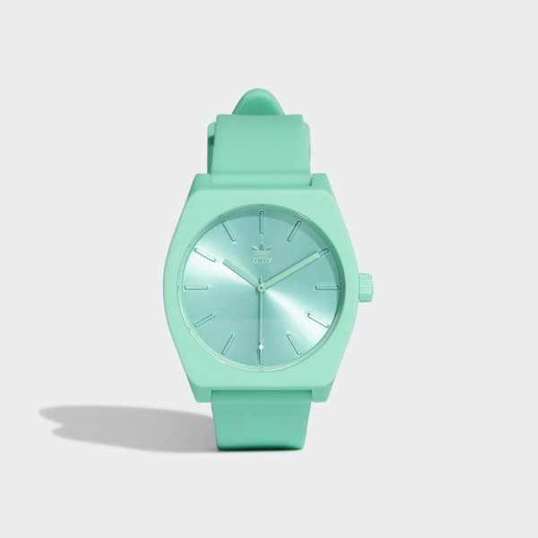 zegarek adidas originals fioletowy z zielonym