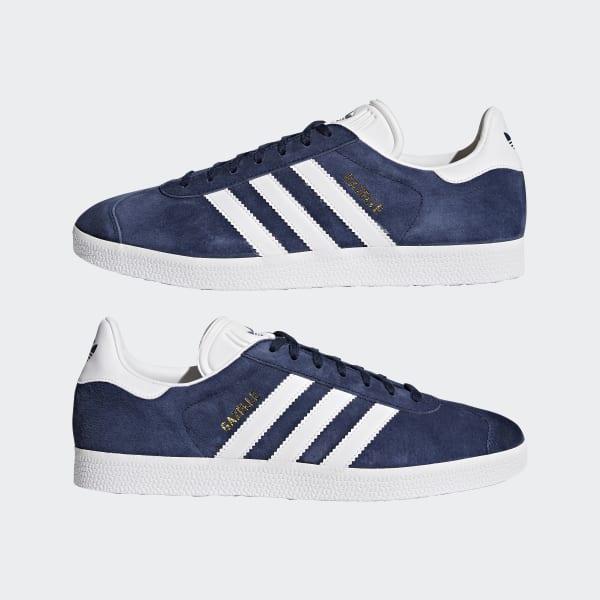 Navy & White Gazelle Shoes | BB5478 | adidas US