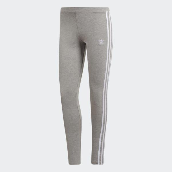 adidas Originals 3-Streifen Leggings Damen Trainingshose grau CY4761