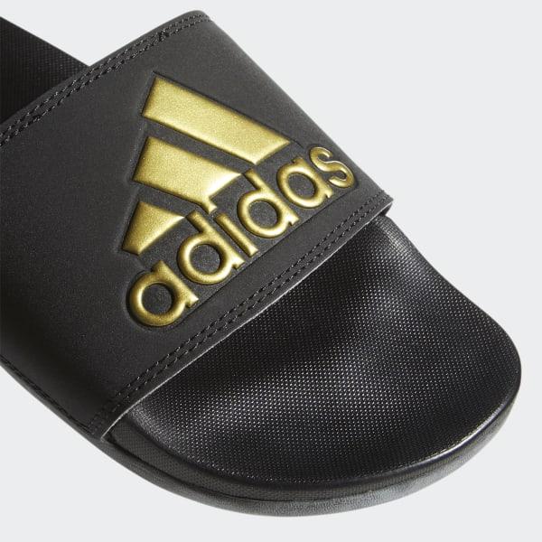 5d16e9036a49 adidas Adilette Cloudfoam Plus Logo Slides - Black