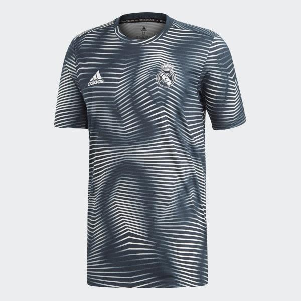 51569ac5c8afe Camiseta calentamiento primera equipación Real Madrid - Gris adidas ...