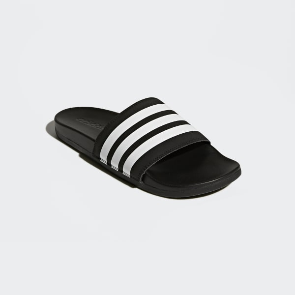 efb9f93acfb adidas Adilette Cloudfoam Plus Stripes Slides - Black