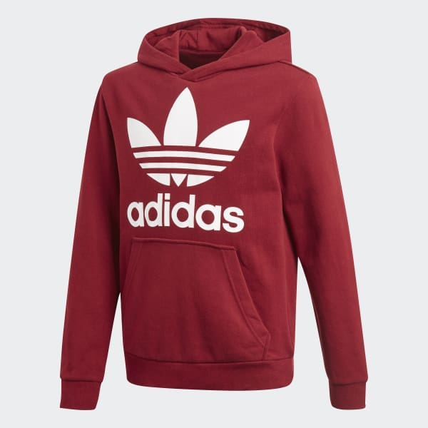 Sweat-shirt à capuche Trefoil - rouge adidas   adidas France 67add91f0ab