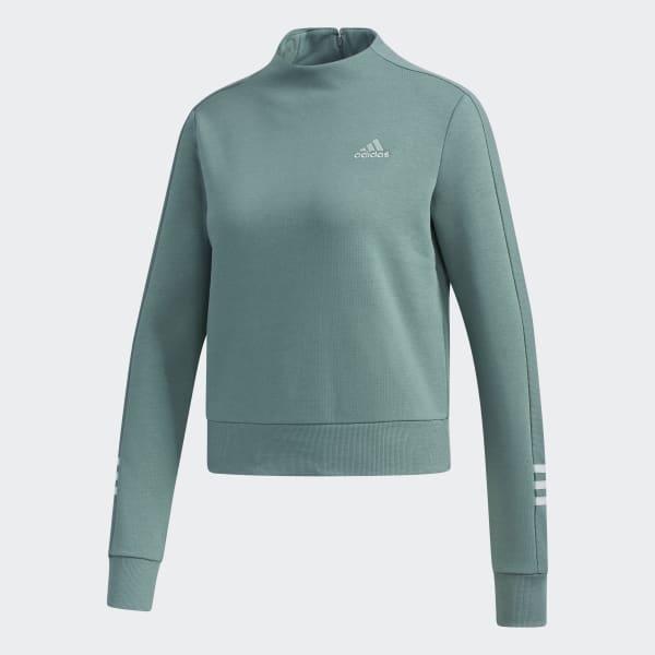 adidas Essentials Comfort Mock Neck Sweatshirt Grün