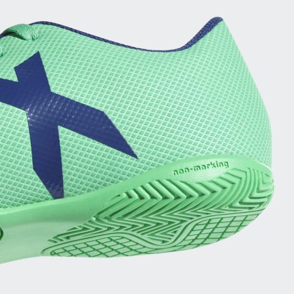 Chuteira X 17.4 Futsal Infantil - Verde adidas  122ede6f828df