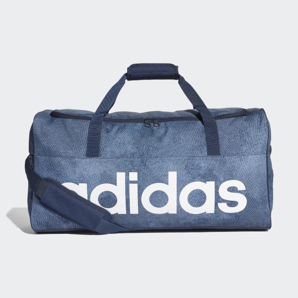 adidas Linear Performance Duffel Bag Medium - Blue   adidas Belgium e5628f3ce8