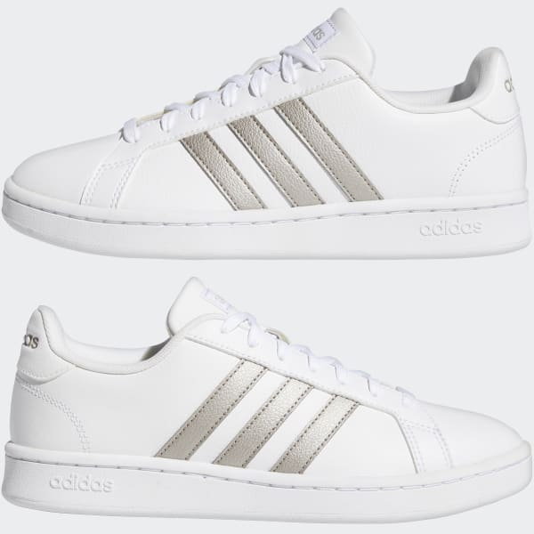 adidas Grand Court Shoes - White   adidas US
