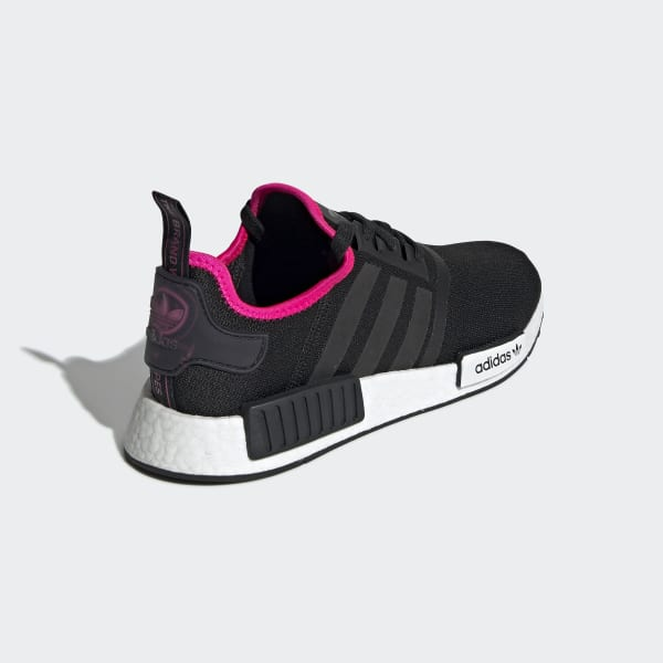 Men's NMD R1 Core Black and Pink Shoes