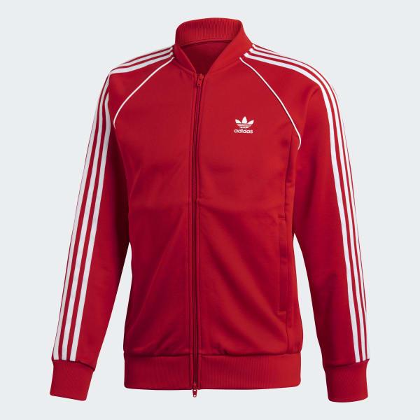 adidas SST Track Jacket Red   adidas US