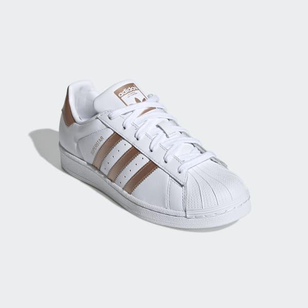 Lubricar apasionado flotador  Women's Superstar Cloud White & Copper Metallic Shoes | adidas US