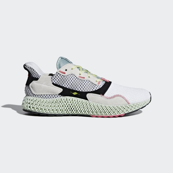 new style 6106d 30303 adidas ZX 4000 4D Shoes - bialy  adidas Poland
