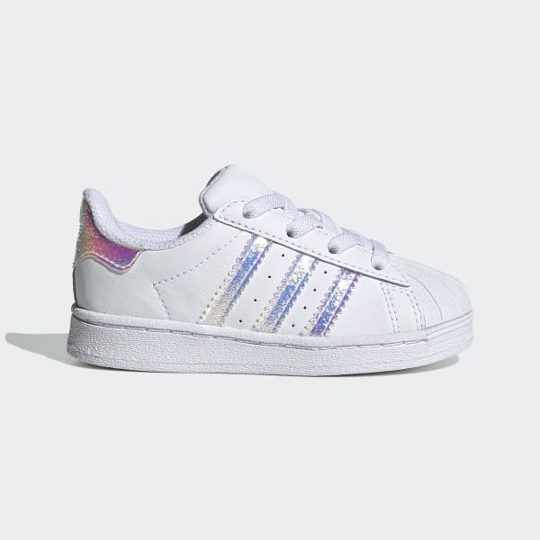 Adidas Superstar EL Toddler/'s Shoes Cloud White//Cloud White//Cloud White CG3598