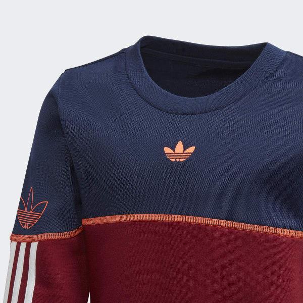 adidas burgundy superstar crew sweater