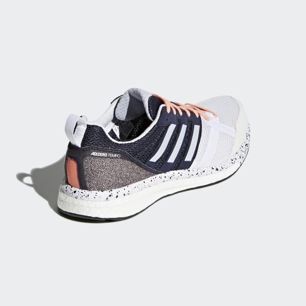 hot sale online 05743 e2615 adidas adizero Tempo 9 sko - Hvid  adidas Denmark