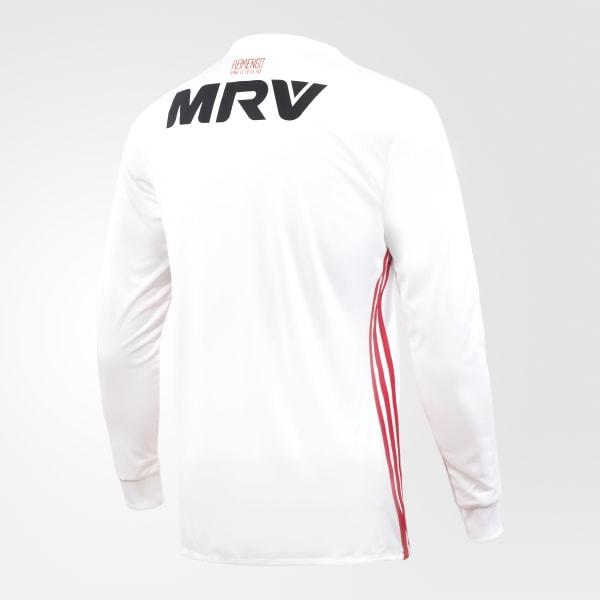 682af98836 Camisa Flamengo 2 Manga Longa - Branco adidas