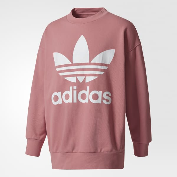 outlet competitive price fresh styles adidas Crewneck Sweatshirt - Pink | adidas UK