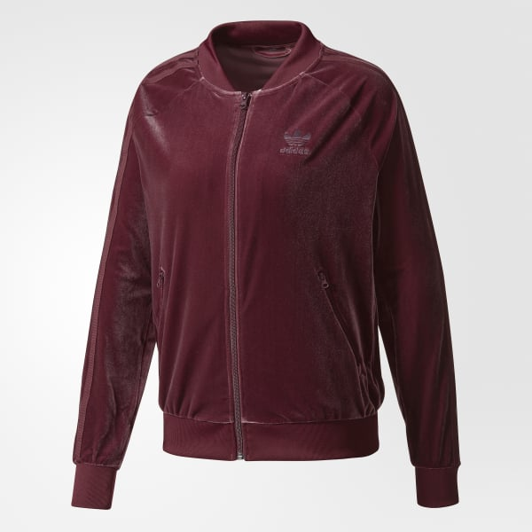 58670d4a71e adidas Women's Velvet Vibes SST Track Jacket - Red | adidas Canada