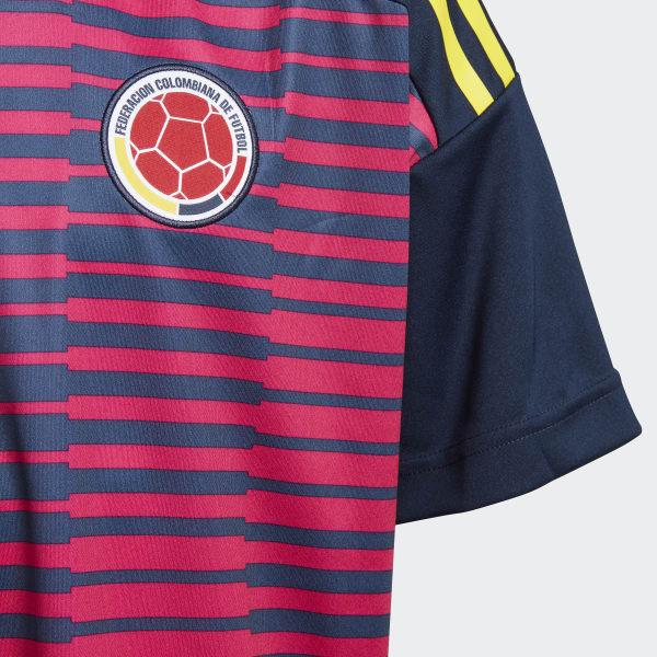 adidas Camiseta Prepartido Selección de Colombia Local Niño 2018 - Rosa  16f408be5da56
