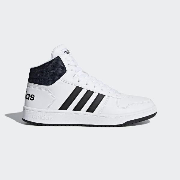 e392faf2d6fa adidas Hoops 2.0 Mid Shoes - White