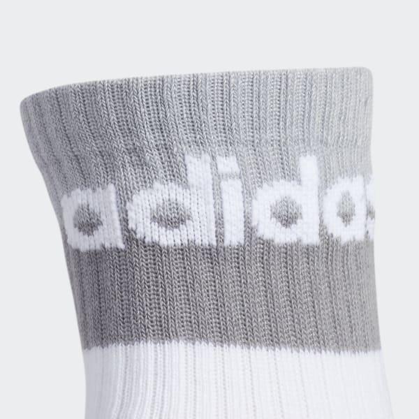Double Blocked Cuff High Socks 3 Pairs