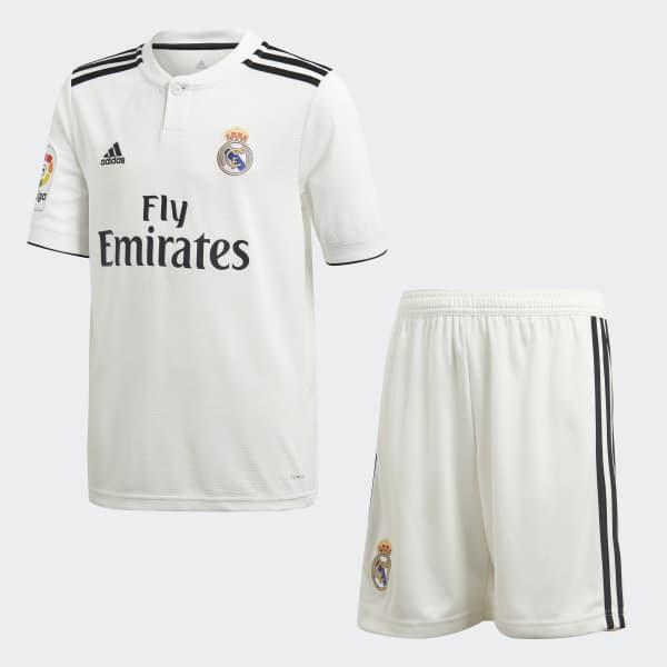 official photos 69341 c88db adidas Real Madrid Home Mini Kit - White | adidas UK