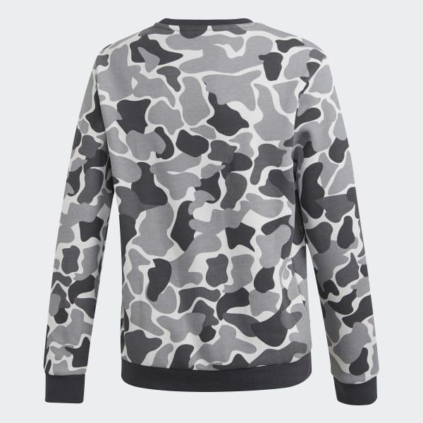 Camo Trefoil Crew Sweatshirt
