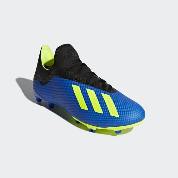 Zapatos de Fútbol X 18.3 Terreno Firme - Azul adidas  6d85dd32df700