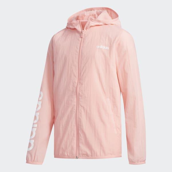 adidas Ветровка YA FAV WB - розовый | adidas Россия