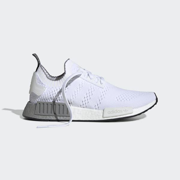 Adidas Womens NMD_R1 Prime Knit Running Shoe GreyWhite