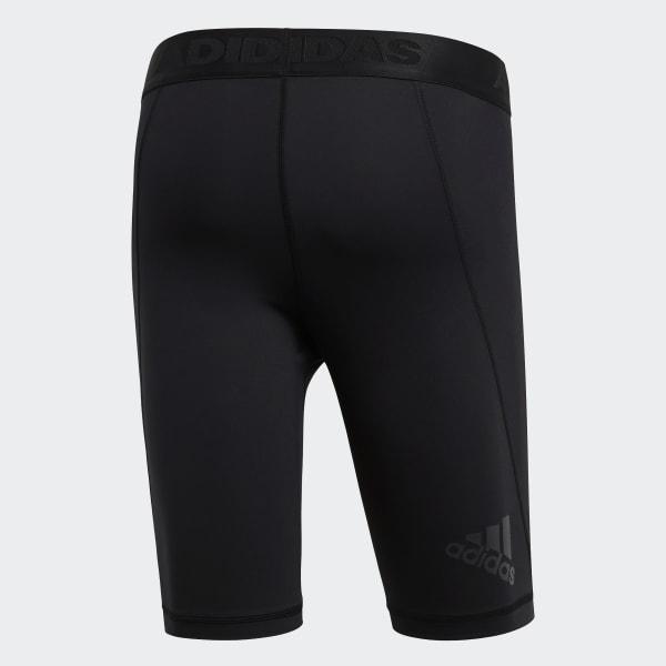 Adidas Men Shorts Tights Training Alphaskin Sports Running Workout Black CF7299