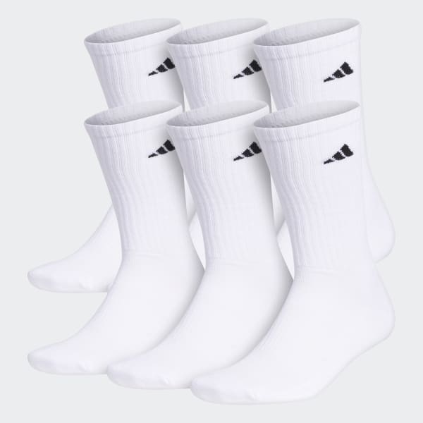 Terraplén tanque Amperio  adidas Crew Socks 6 Pairs - White | adidas US