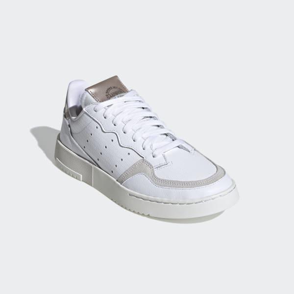 adidas Originals Dame hvit Flat Joggesko SUPERSTAR METALLIC