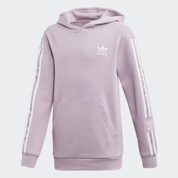 Adidas Pullover (Grau mit violetten Streifen)