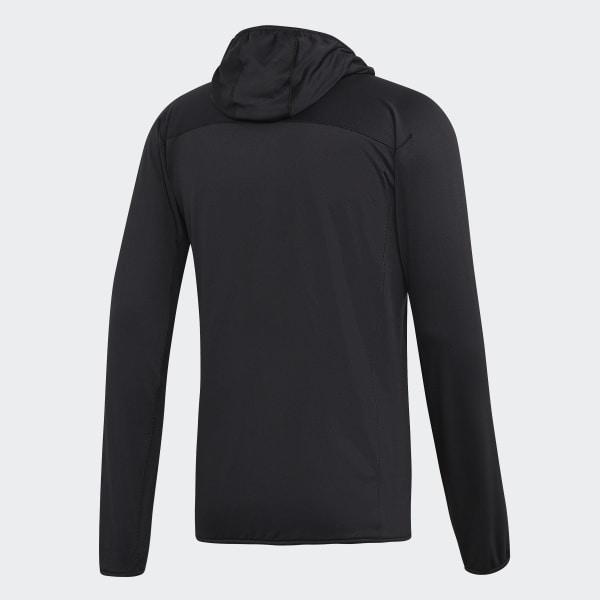 cráter Por favor mira cortador  adidas TERREX TraceRocker Hooded Fleece Jacket - Black | adidas US