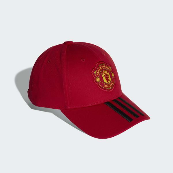 1c05abc182add Boné Manchester United 3-Stripes - Vermelho adidas